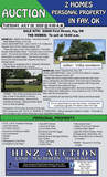 2 HOMES & PERSONAL PROPERTY IN FAY, OK