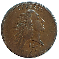 1893 Wreath Large Cent, S-11c, R-3, VF-EF