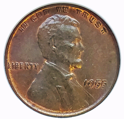 1955 Doubled Die Obverse Lincoln Cent, NGC MS-63BN