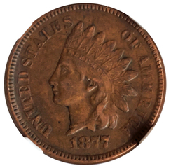 1864 Bronze Indian Head Cent, NGC PF-65RB