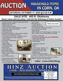 HOUSEHOLD AUCTION IN CORN, OK