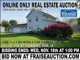 ONLINE ONLY MORNING SUN REAL ESTATE AUCTION