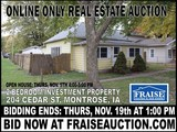Montrose, IA Online Only Real Estate Auction