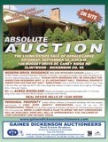 REAL ESTATE & PERSONAL PROPERTY AT ABSOLUTE AUCTION