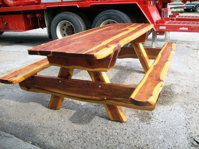 Cedar Hand Crafted Picnic Table