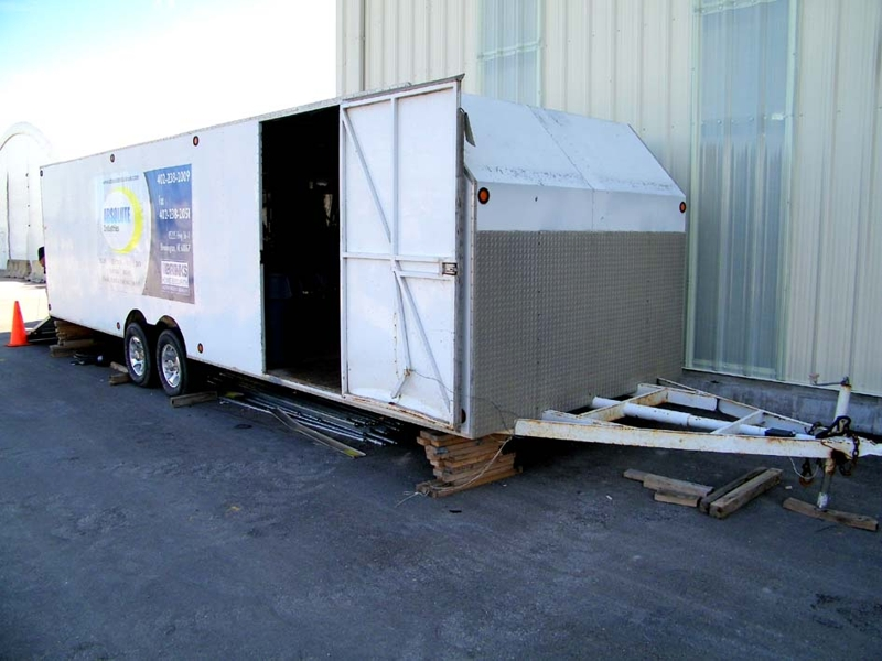 How to paint a enclosed trailer