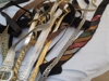 Too Many Vintage Designer Belts to Sort: I don't have any idea how many belts they founds tucked away from Miss Evelyn but there are a LOT...  These are sorted the best we could and bound to be a few hidden designer treasures that we missed