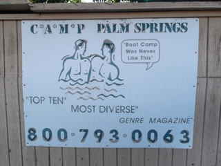 Camp Palm Springs Auction: Camp Palm Springs is known world wide as a premier Gay Men's Nude resort.  Everything sells from the rooms to the smalls in a single day due to sale of property