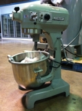 HOBART A-200T 20QT MIXER W/BOWL, WHIP, PADDLE & HOOK