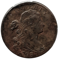 1798 Large 1c,2nd Hair Style, PCGS Genuine: