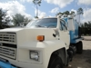 1994 FORD F600 V.8 429 ENG.GAS W/ GASO PUMP, HP SEWER CLEANING PUMP, 1200+/- GAL TANK, W/ 6 CYCL FORD 300 IND PONY MOTOR, 5 SPEED TRANS W/ 2 SPEED, HYD REELS - WORKS: