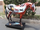 SANTA FE ONLINE AUCTIONS- Original Life Size PAINTED PONY-