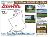 72+/-Ac Farm Property Auction in NC