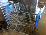 Shopping carts used small metal-$45.00