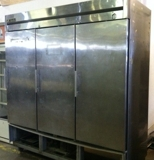True 3 door stainless steel refrigerator $1500