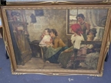 Closed and Sold! Cesare Laurenti Classic Oil Painting Auction Culpeper VA