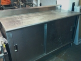 stainless steel condiment cabinet
