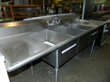 3 compartment s/s sink