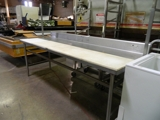 stainless steel cut board top table