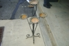 Wrought iron plant stand: