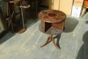 Duncan Phyfe style table - inlaid wood top: