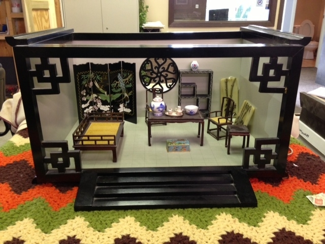 ... Ornate Old Asian Style Doll House U0026 Furniture ...