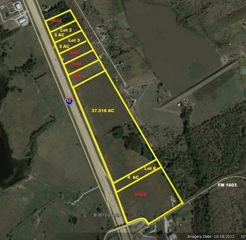 Four I-45 Frontage Tracts – Rice, TX