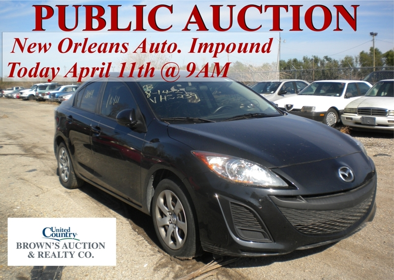 city of new orleans auto impound auction brown 39 s auction. Black Bedroom Furniture Sets. Home Design Ideas