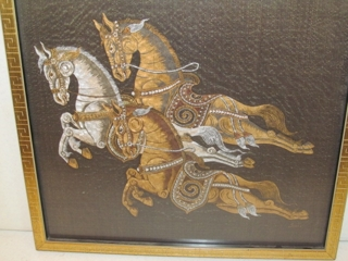 Horse Painting on Silk: