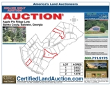 3 Large land lots for sale in Banks County Georgia