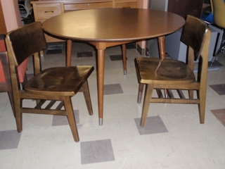 Wooden Desk & Chairs