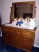 NOT Antique Dresser, auctioning THE Cabbage Patch Dolls, White Bowl & Pitcher:
