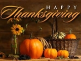 HAPPY THANKSGIVING - NO AUCTION TONIGHT!!