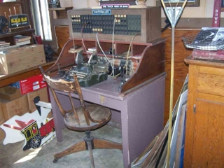 """ANTIQUE PHONE SWITCHBOARD"":"