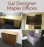 Maple Office Furniture Auction Washington DC