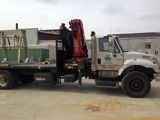 2003 INTERNATIONAL 7500 HT530 TRI-AXLE FLATBED TRUCK