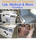 CLOSING WEDNESDAY University of Virginia Laboratory, Medical and more Surplus Auction Virginia