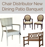 New Restaurant Patio Dining Seating Auction Washington DC