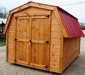 custom built 12 x 8 shed with hip/barn metal roof: