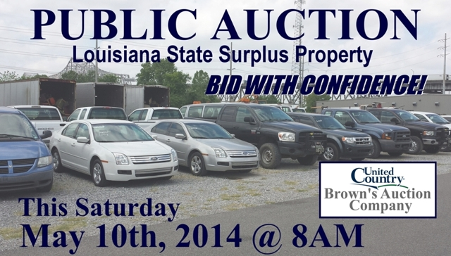 State surplus public auction