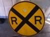 LOT 6  RR CROSSING METAL SIGN: