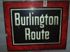 LOT 5 &quot;BURLINGTON ROUTE METAL SIGN&quot;: 