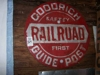 LOT 34  GOODRICH RR GUIDE POST METAL SIGN: 