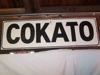 "LOT 9  ""COKATO WOODEN DEPOT SIGN"":"