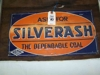"LOT 10  ""SILVERASH COAL METAL SIGN"":"