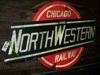 "LOT 24  ""CHICAGO NORTHWESTERN METAL SIGN"":"
