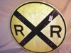 "LOT 29  ""RR CROSSING METAL SIGN"":"