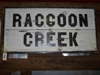 LOT 31  &quot;RACCOON CREEK WOODEN DEPOT SIGN&quot;: 