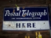 "LOT 73  ""POSTAL TELEGRAPH METAL SIGN"":"