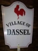 LOT 75  &quot;VILLAGE OF DASSEL METAL SIGN&quot;: 